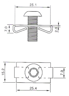 Spring Fastener SF30 Drawing
