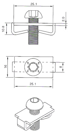 Spring Fastener SF40 Drawing